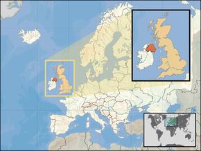 Poloha Severního Irska