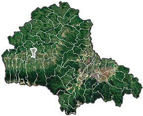 Localizarea în cadrul județului