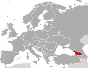 Poloha Gruzie