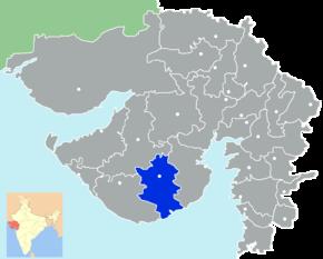 Kart over Amreli