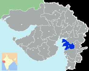 Kart over Bharuch