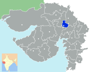Kart over Gandhinagar
