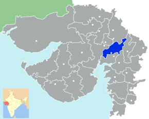 Kart over Kheda