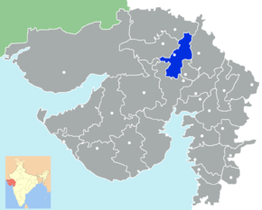 Kart over Mehsana