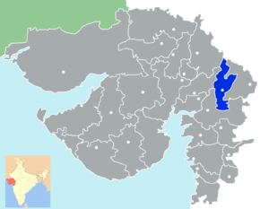 Kart over Panchmahal