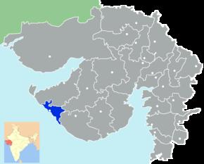 Kart over Porbandar