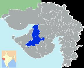 Kart over Rajkot