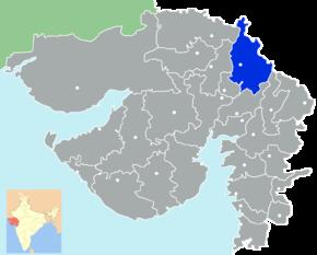 Kart over Sabarkantha