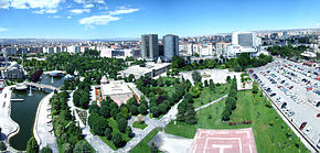 Vista da área central de Kayseri