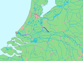 Kart over Kromme Rijn