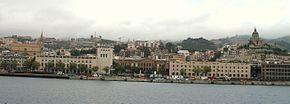 Vedere panoramică spre Messina