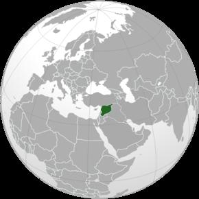 Amplasarea Siriei