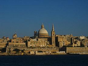 Vedere a orașului Valletta