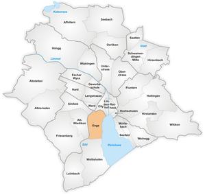 Karte von Enge