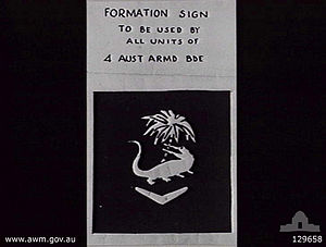 4th Australian Armoured Brigade Formation Sign