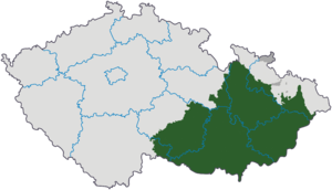 Harta Cehiei cu Moravia indicată