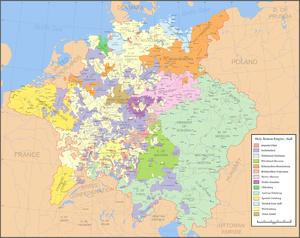 Localizare a Sfântului Imperiu Roman