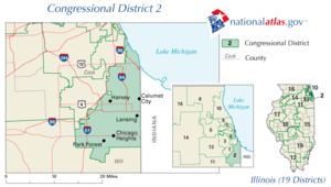 The 2nd congressional district of Illinois since 2003