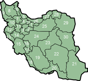 Íránské provincie.