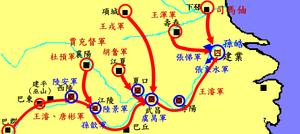 晉滅吳形勢圖