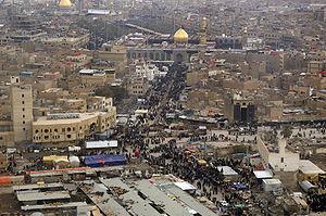 前往清真寺的什葉派信徒,攝於2008的天際線