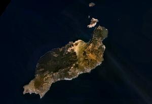 Satellitenbild von Lanzarote
