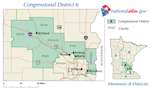 The 6th congressional district of Minnesota since 2002