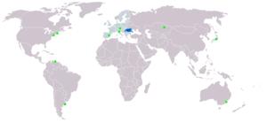 Mapa rozšíření jazyka