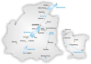 上瓦爾登州Obwalden地圖
