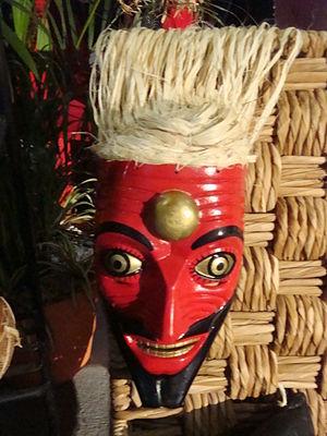 Máscara de danzante chontal.