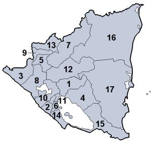Departementy Nikaraguy