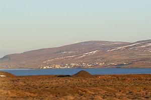 North across Miðfjörður to Hvammstangi, November 2007