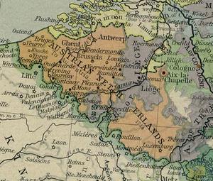 Localizare a Țărilor de Jos austriece