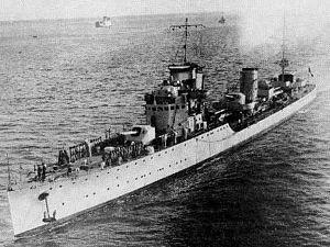 Il cacciatorpediniere Antonio Pigafetta in navigazione negli anni trenta