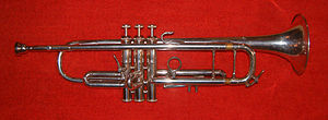 Um trompete estilo clássico