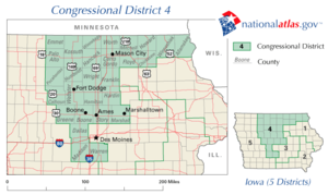 The 4th congressional district of Iowa