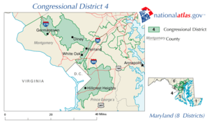 United States House of Representatives, Maryland District 4 map.png