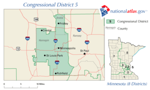 The 5th congressional district of Minnesota since 2002