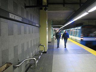 蒙莫倫斯站的月台