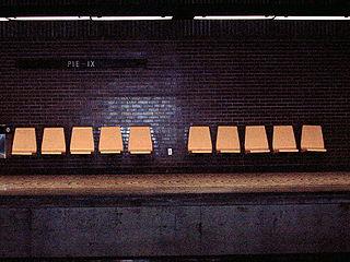 庇護九世站的月台
