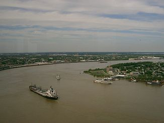 Der Mississippi bei New Orleans
