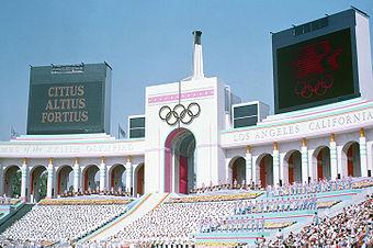 Das Los Angeles Coliseum während der Olympischen Sommerspiele 1984