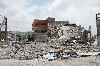 Zerstörtes Gebäude im Südlibanon
