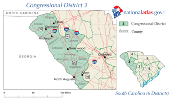 United States House of Representatives, South Carolina District 3 map.png