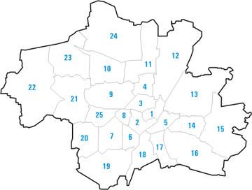 Stadtbezirke Lage in München.png