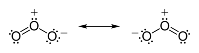 Resonance Lewis structures of the ozone molecule