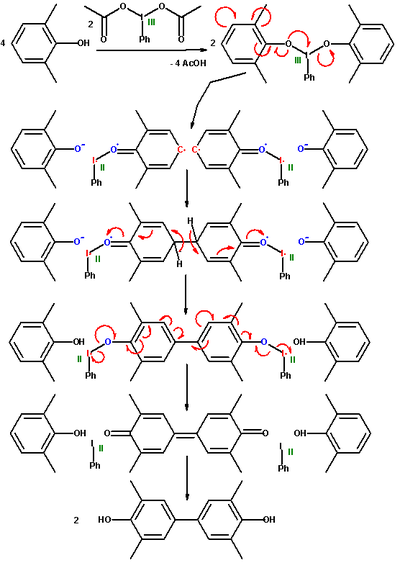 synthesis of 3,5,3,5-tetramethyl-biphenyl-4,4-diol