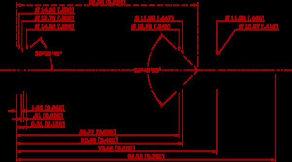 416 Rigby Cartridge Schematic