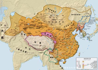 唐朝行政区划与疆域图