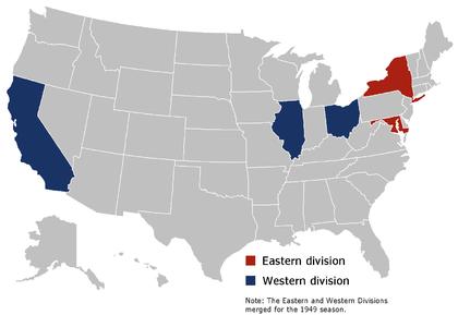 1947–1949 season teams